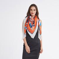 Wholesale muffler scarf female for sale - Group buy 2018 High Quality Euro Fashion Luxury scarves twill silk Square Scarfs cm big Size Pashmina Horse Cab print lady s muffler female Sca