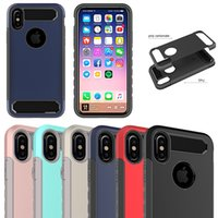 Wholesale armor defender case for sale – best Hybrid Defender Armor Case PC TPU Case Cover Shockproof Phone Shell For iPhone X Plus