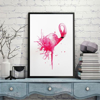 Wholesale watercolor paintings children resale online - Frameless Watercolor Paintings Rectangle Nordic Style Flamingo Oil Painting For Children Room Decoration Hot Sale New hg4 CB