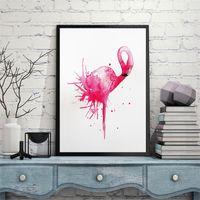 venda de pinturas a óleo venda por atacado-Pinturas em Aquarela sem moldura Retângulo Estilo Nórdico Flamingo Pintura A Óleo Para As Crianças Decoração do Quarto Venda Quente Novo 17 8hg4 CB
