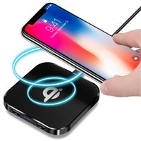 Wholesale galaxy s4 qi charger - Universal Qi Wireless Charging Charger Pad with 2 USB Port For Samsung galaxy s3 s4 s6 s7 edge s8 s9 iphone 7 8 x android phone