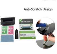 Wholesale nano tablet - Premium Nano Invisible Liquid Screen Protector H Hardness Fingerprint Resistant For iPhone X plus S8 S9 Temper Screen Tablets
