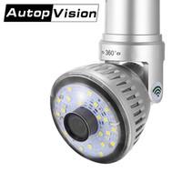 mini wifi ip kamera weiß großhandel-IB-175 Birne Licht LED Wireless IP Wifi Kamera 720P Weiß oder gelb Licht Lampe Zimmer Mini CCTV-Kamera Home Security WiFi