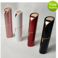 Wholesale sell lipstick for sale - Group buy Hot Sell Lipstick Facial Hair Remover Face Hair Removal Epilator Painless K Gold Plated Remover OPP bag without battery DHL free ship