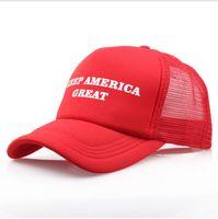 chapeau noir adulte achat en gros de-Keep America Grand président élection casquettes Donald Trump Casquettes de baseball Chapeaux Casquette de baseball Adultes Sports Hat noir couleur rouge blanc