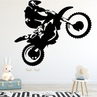 Wholesale Animal Stunts - Motorcycle Stunt Driver Wall Stickers Modern Fashion Wall Sticker Home Decoration Accessories for Living Room Bed Room Sticker