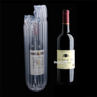 Wholesale package air bags for sale - Group buy 7 cm Red Wine Column Anti Pressure Shockproof Storage Bag Clear Plastic Poly Air Bubble Column Package Pouch