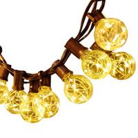 ingrosso rgb ha portato il globo-110 V 220 V 18ft G40 Globe Bulb Filo di rame Retro LED String Lights Lamp12 LED per la festa di Capodanno Decorazione della festa di Natale