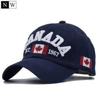 Wholesale red flag canada - [NORTHWOOD] 2018 Cotton Gorras Canada Baseball Cap Flag Of Canada Hat Snapback Adjustable Mens Baseball Caps Brand Snapback Hat