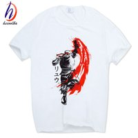 Ryu Fire Hadoken Street Fighter Stampa T-shirt bianca Manica corta O-Collo Homme Harajuku Casual Cool Tshirt HCP450