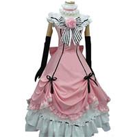 kahya kostümleri toptan satış-Malidaike Anime Siyah Butler Ciel Phantomhive Cosplay Kostüm Lolita Elbise Hediye Cadılar Bayramı Ve Parti Için