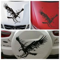 Wholesale eagle decals - 50x50cm Reflective Sticker Eagle Personalized Car Truck Stick Cover Scratch Door Hood Cover Sticker Decals KKA4538