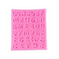 Wholesale Mini Chocolate Cakes - Silicone Mold Mini Letter Number Chocolates Mould Baking Sugar Cake Decorate Pink DIY Soft Food Grade Avirulent Insipidity 2 8zy V