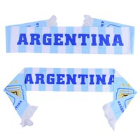 Wholesale flags cup - 2018 Russia World Cup Accessories National Team Argentina White Scarf Fans Gift Souvenirs Flag Banner Football Soccer Cheerleaders Scarves