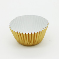Wholesale Gold Muffin - HOT SELL Mini gold silver foil cupcake cases papers muffin liners cake cups baking mould wrapper