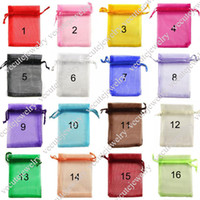 Wholesale Wholesale Bag Manufacturers - 16 colors full sizes organza bags for favors jewelry gift baggies pouch wedding small bags in bulk wholesale manufacturer cheap price