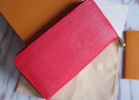 Wholesale top wallet brands for men - Women leather wallets holders luxury brand designer single zippy wallet for men business credit card holder long large capacity top quality