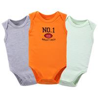 ingrosso corpo di pallacanestro-Nido per la mamma Body per neonato Body senza maniche Baby Basketball Cool Baby Girls Boys Tuta Summer Suit onesie