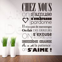 Wholesale wall stickers french - Art Design Home Decoration Cheap Vinyl French Quote Rules Words Wall Sticker Removable House Decor Characters Decals In Rooms