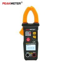 Wholesale multimeter current clamp - Peakmeter Digital Clamp Meter True RMS NCV Portable mini Multimeter Voltmeter Current Clamps clamp-multimeter Tools Resistance Capacitance
