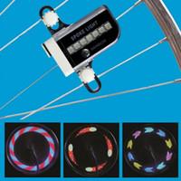 neumáticos de moto envío gratis al por mayor-14 LED Motocicleta Ciclismo Bicicleta Bicicleta Rueda Señal Neumático Spoke Light 30 Cambios 3 Modos Bicicleta Spoke Light envío gratis