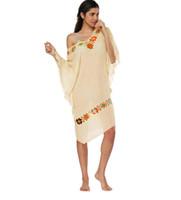 couvrir robe fleur achat en gros de-Mode féminine Baggy Batwing manches robe Summer Beach Sexy femmes crochet épissage de fleurs robe Cover Up Maillots de bain maillot de bain LJJB3