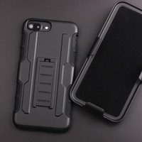 Wholesale I Phone Hard Cover - For iphone X 7 active 6 6s plus Future Armor Impact Hybrid Hard Case Cover + Belt Clip Kickstand Stand for i phone 5 5s s8 plus s7 s6 edge