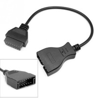 tarayıcı için obd2 kablosu toptan satış-12 Pin OBD1 16 Pin OBD2 Dönüştürücü Adaptör Kablosu GM Teşhis Tarayıcı Dönüştürücü Adaptör Kablosu KKA5954 Için
