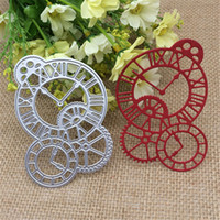 Wholesale Album Clocks - Clock Time Axis Metal Cutting Dies Stencil Scrapbooking Photo Album Card Paper Embossing Craft DIY