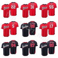 Wholesale nationals baseball for sale - 2018 All Star Baseball Jersey Rhys Hoskins Christian Yelich Nolan Arenado Bryce Harper American National League World USA Men Kids Women