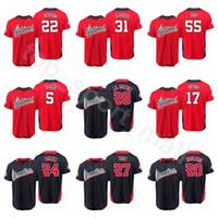 Wholesale usa women - 2018 All-Star Baseball Jersey 17 Rhys Hoskins Christian Yelich Nolan Arenado Bryce Harper American National League World USA Men Kids Women
