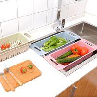 Wholesale Sinks Bowls - Home Vegetable Fruit Washing Racks Wheat Straw Sink Bowl Plate Draining Rack LZ1072