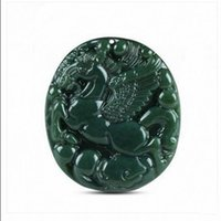 Wholesale Jade Horses - Xinjiang Hetian jade sapphire horse pendant male and female models to success Pegasus round pendant