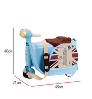 Wholesale children luggage - TRAVEL TALE kids car rolling suitcase children gift trolley luggage