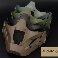 Wholesale tactical helmet face mask - Airsoft tactical mask paintball accessories hunting protective men half face MASK for fast helmet 3 colors