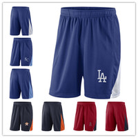 Wholesale man performance - Men's LA Dodgers LA Angels KC Royals Astros Navy Blue Red Franchise Performance Shorts Size M L XL XXL XXXL Baseball Shorts Jerseys
