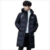 ingrosso vendita coreana del cappotto-2018 Rushed Sale Casacos Winter Giacche Mens medio lungo cappotto versione coreana degli uomini giacca di cotone Studenti vestiti spessi