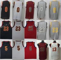 Wholesale white fans - New Fans Jerseys 23 LeBron James 5 J.R. Smith JR 13 Tristan Thompson 0 Kevin Love Blue White Red Grey The City 100% Stitched