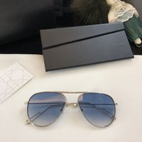 fashion sunglasses Canada - Luxury Pilot Alloy Sunglasses Women Brand Designer Metal Frame Gradient Lens Classic Shades Female Male Fashion Flod Eyewear UV400