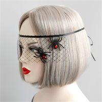 augenschleier großhandel-Halloween Maskerade Party Spider Prinzessin Maske Gesicht Ein Halbes Gesicht Augenmasken Schleier Zubehör Einfach Zu Verwenden 6 5hy dd