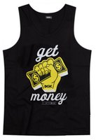 Wholesale tank tops styles for men - Hip Hop DGK get money tank Men's fashion New Style o-neck top Casual Tank Tops For Men Summer vest free shipping