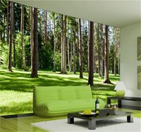 трехмерные обои оптовых-Пользовательские трехмерные настенные обои 3D фотография стены настенная роспись пейзаж лесов нетканые обои естественно на стене