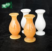 vasos de jade venda por atacado-Venda direta da fábrica natural Afeganistão jade vaso atacado jade jade vaso de artesanato decorativo 12 * 12 * 5 CM