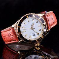 lederarmbänder diamanten großhandel-SSS relogio masculino designer mode Marke herrenuhren lederarmband Große rote zifferblatt