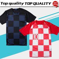 Wholesale thai quality - 2018 World Cup #10 MODRIC home Soccer Jerseys 2018 #17 MANDZUKIC away Football Uniform Thai Quality Soccer Shirts