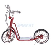 Wholesale diecast bicycles - 1:10 Scale Miniature Alloy Diecast Bike Cycle Bicycle Scooter Model Toy Kids Children Toys Gifts Adults Hobby Collection