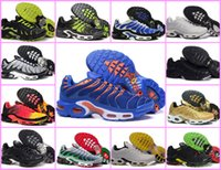 Wholesale champagne france - Wholesale 2018 Mens Original Fashion Casual TN Air Shoes Sales TOP Quality Cheap France Basket Tn Requin Chaussures EUR 40-46 Free Shipping