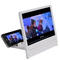 hd display мобильные телефоны оптовых-Новый экран усилитель ленивые люди глаза экран телефона усилитель увеличительное стекло 3D HD видео дисплей многофункциональный держатель мобильного телефона