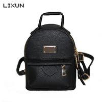 красивые рюкзаки для девочек оптовых-2017 Mini Backpacks For Teenager Girls Back Bag Women PU leather Small Pretty Shoulder Bag feminine Daypack bolsas femininas