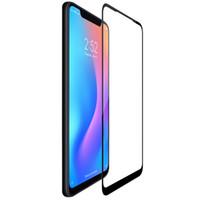 nilkin cam toptan satış-Xiaomi mi 8 için cam ekran koruyucu tam kaplı nillkin 3d cp + 9 h 0.33mm ince xiaomi mi8 için temperli cam kavisli 6.21 inç
